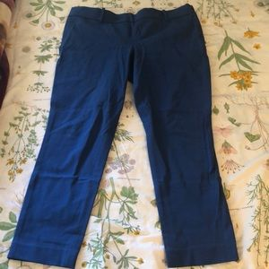 BLUE BRAND NEW J CREW PANTS IN SIZE 12!